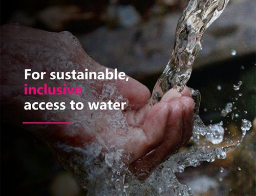 For sustainable, inclusive access to water.