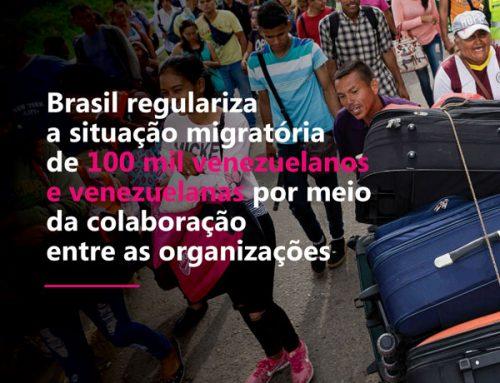 Brasil regulariza a situação migratória de 100 mil venezuelanos e venezuelanas por meio da colaboração entre as organizações