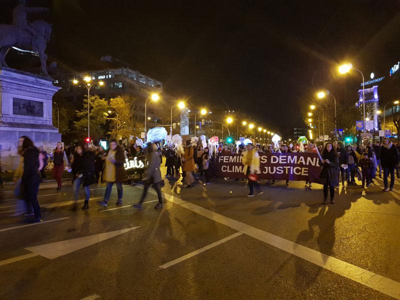 Movilización por el clima en Madrid, durante la COP25
